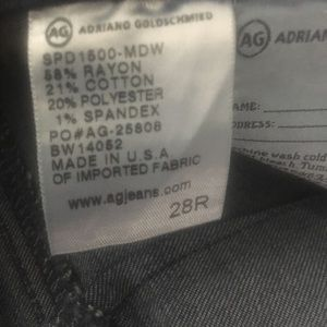 AG extreme skinny jeans